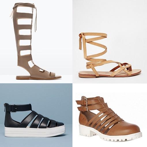 sandalias romanas