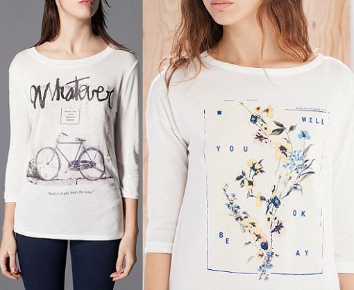 camisetas stradivarius primavera verano 2015