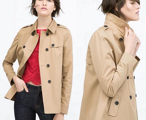 chaqueta trench zara 2015