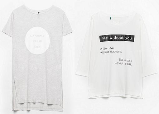 stradivarius camisetas con mensajes