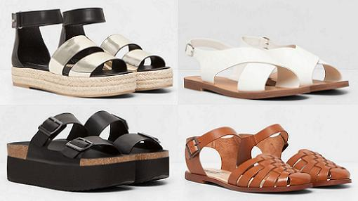 sandalias pull and bear primavera verano 2015