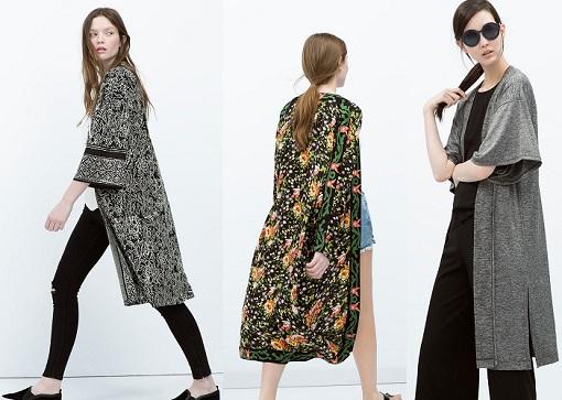 kimonos largos zara