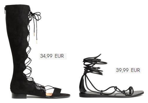 sandalias romanas altas 2015 hm