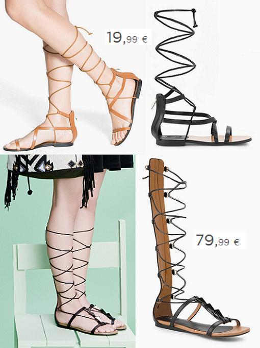 sandalias romanas altas 2015 mango