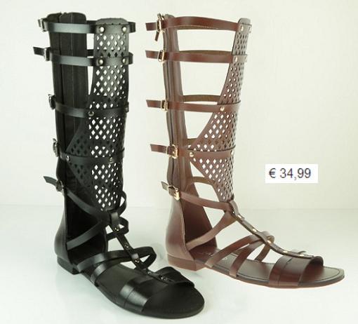 sandalias romanas altas marypaz