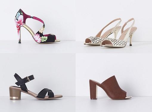 Blanco sandalias