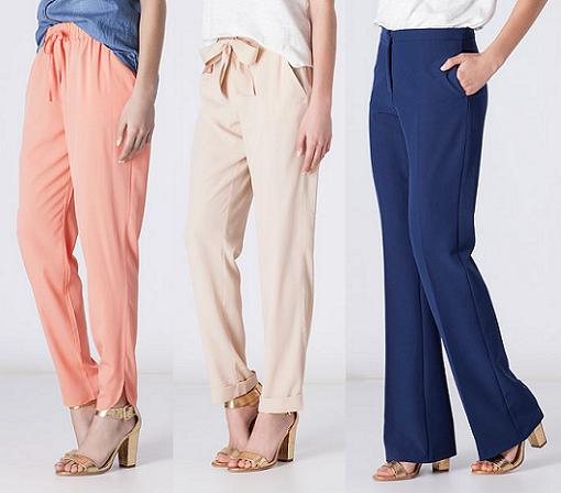 pantalones anchos blanco