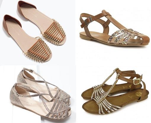 d13a10152 Las sandalias cangrejeras doradas y plateadas pisan fuerte este ...
