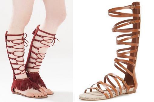 sandalias romanas altas stradivarius 2015