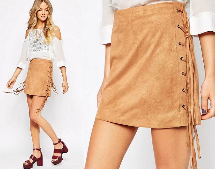 faldas de flecos asos