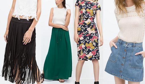 Moda oto o invierno 2016 mujer faldas for Zara nueva coleccion