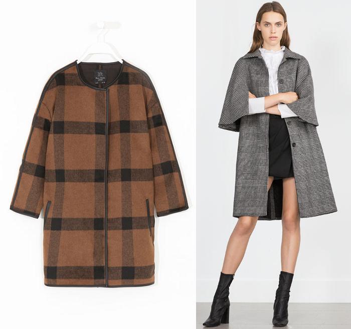 abrigos de cuadros otoño invierno 2015 2016