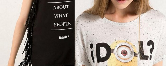 bershka camisetas 2015 minions texto