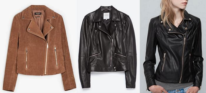 cazadoras biker stradivarius zara pull and bear