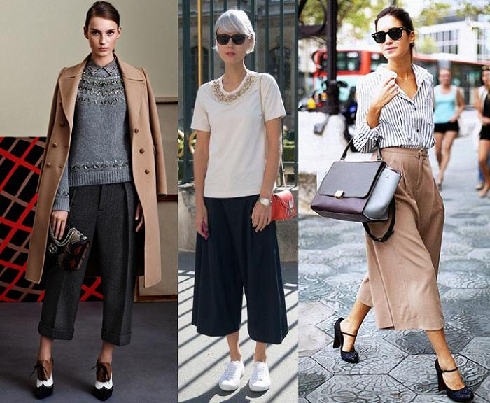 como combinar pantalones culotte