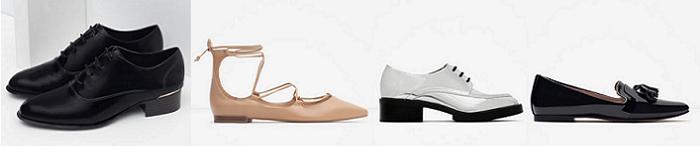 mocasines zapatos de cordones zara otoño invierno 2015 2016