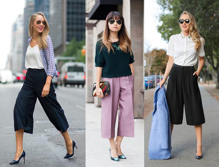 pantalones culotte style