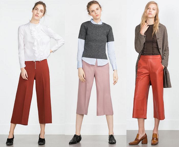 pantalones culotte zara