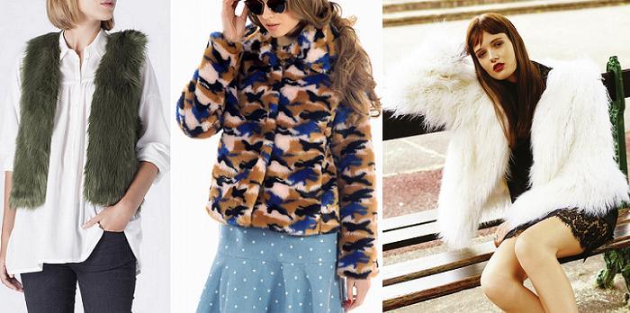abrigos de pelo sintético moda otoño invierno 2015 2016