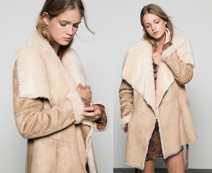 abrigos de piel vuelta bershka