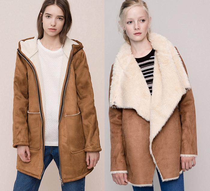 abrigos de piel vuelta pull and bear