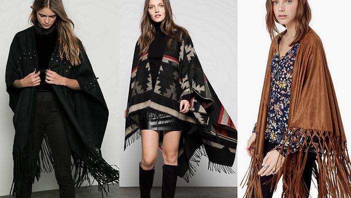 capas y ponchos con flecos 2015