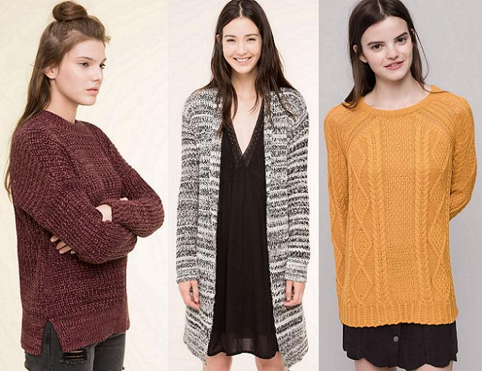 pull and bear punto jerseis otoño invierno 2015 2016