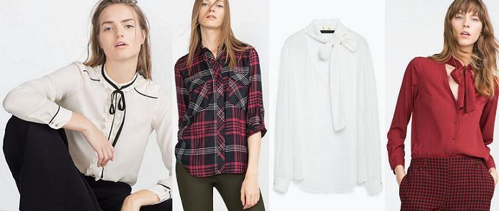 zara blusas camisas otoño invierno 2015 2016