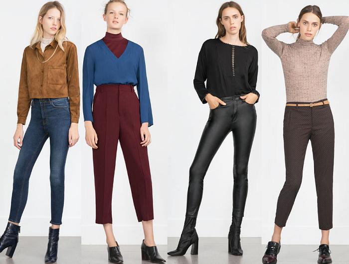 zara pantalones jeans otoño invierno 2015 2016
