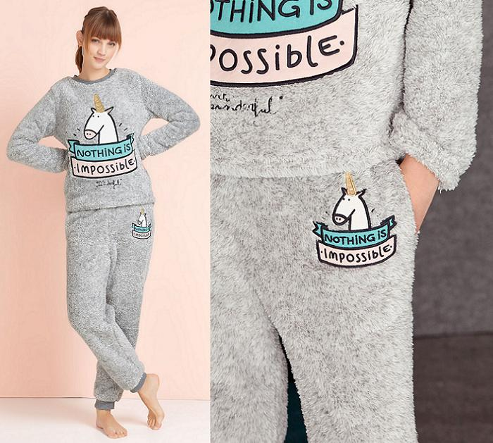 pijamas mr wonderful 2015 oysho unicornios nada es imposible