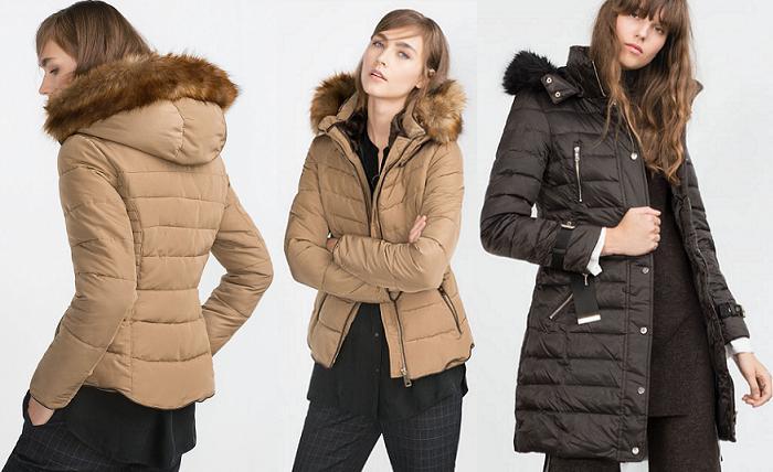 información para 24f68 a3876 Calentitos y estilosos, así son los plumíferos Zara 2015 ...