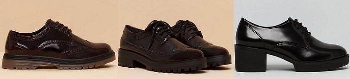 zapatos pull and bear bluchers otoño invierno 2015 2016