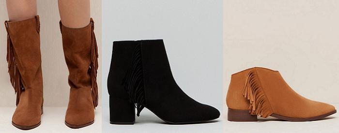 zapatos pull and bear botas botines con flecos otoño invierno 2015 2016