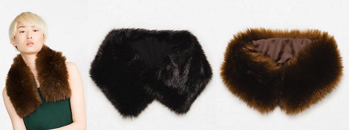 cuellos de pelo zara