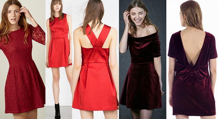 vestidos fin de año baratos 2016 granate rojo