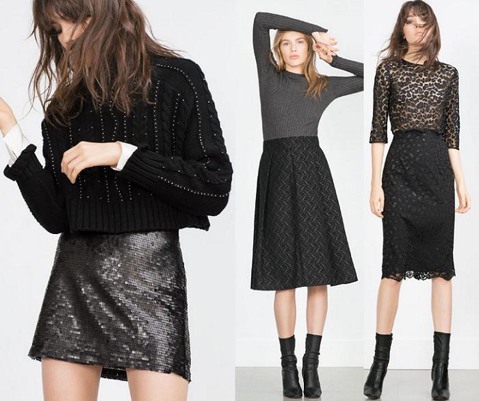 falda de fiesta zara 2016
