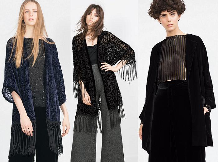 kimonos zara 2016 flecos terciopelo