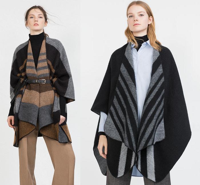ponchos de lana zara