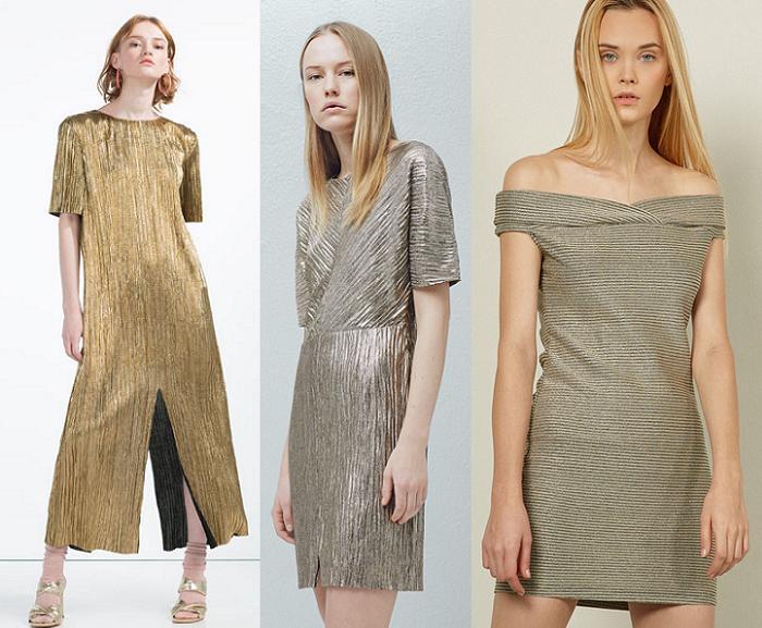 vestidos primavera verano 2016 metalizados