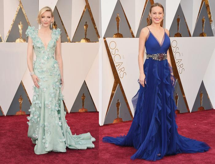 alfombra roja oscar 2016 Cate Blanchett Brie Larson