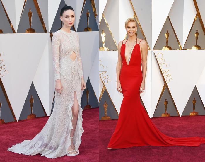 alfombra roja oscar 2016 Rooney Mara Charlize Theron
