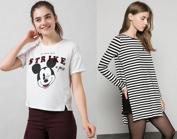 camisetas bershka 2016 bonitas