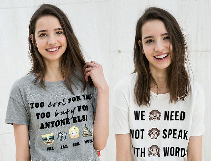 camisetas bershka 2016 emoticonos