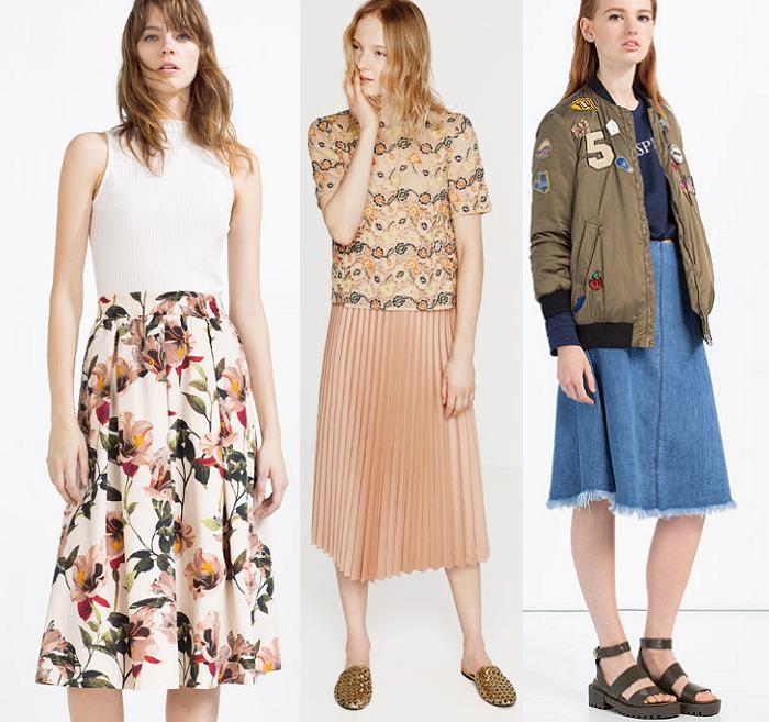 donde comprar faldas midi zara