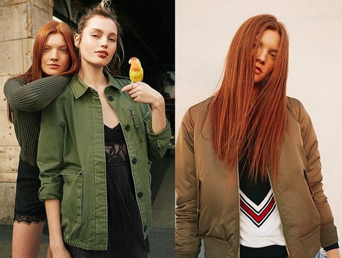 pull and bear ropa chaquetas militares bombers