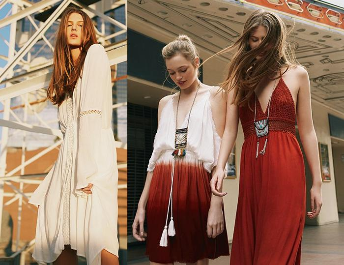 pull and bear vestidos boho 2016