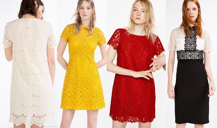vestidos de fiesta zara 2016 encaje guipur