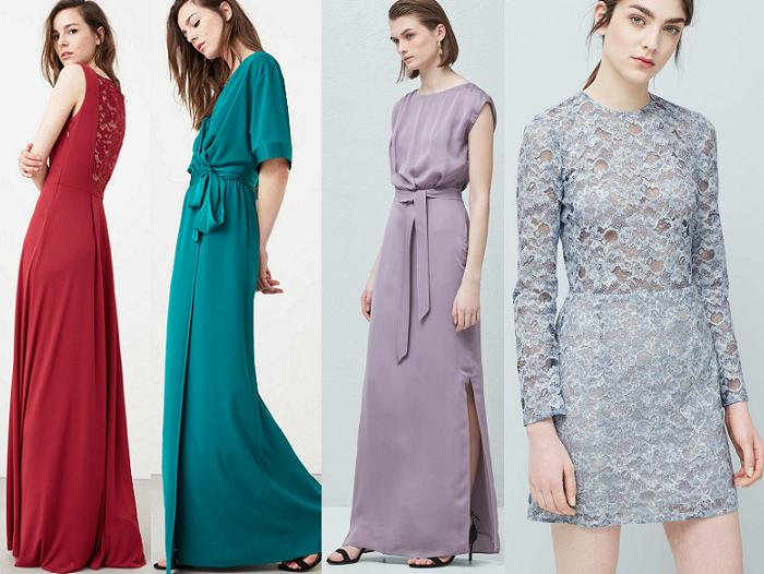 vestidos para ir a una boda baratos mango 2016