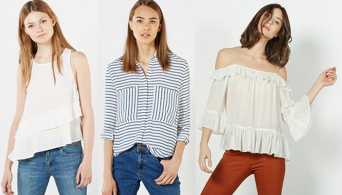 blusas tops rebajas Sfera verano 2016