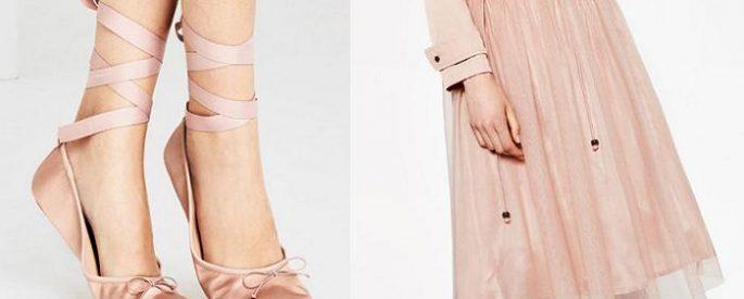 estilo bailarina y las faldas de tul de zara con zapatillas incluidas